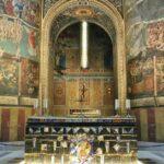 Pintura del Juicio Final en la catedral de Albi al sur de Francia
