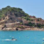 Fortificación amurallada medieval de Tossa de Mar en Costa Brava