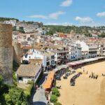Playa de Tossa de Mar desde la muralla medieval