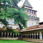 Claustro de la abadía románica de Moissac en Occitania en Francia
