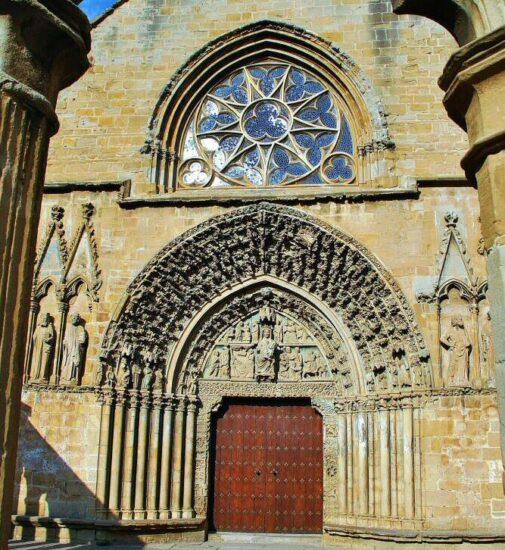 Iglesia de Santa María la Real de Olite en Navarra