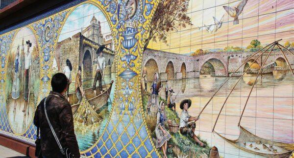Azulejos en el museo Etnográfico de Talavera de la Reina
