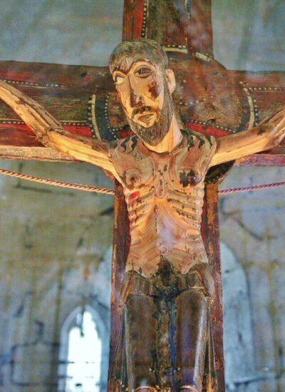 Talla del Cristo de Salardú en el Valle de Arán en Cataluña