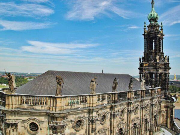 Vistas de Dresde desde torre del palacio Residencial