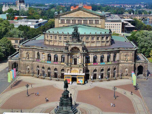 Opera de Dresde desde torre del palacio Residencial