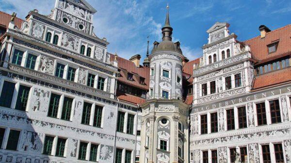 Patio del Palacio Real de Dresde