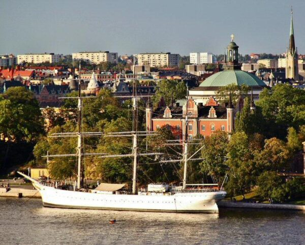 Vistas panorámicas de Estocolmo desde el Ascensor Katarina