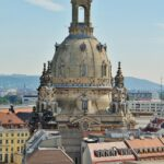 Iglesia Frauenkirchi desde la torre del Palacio Real de Dresde