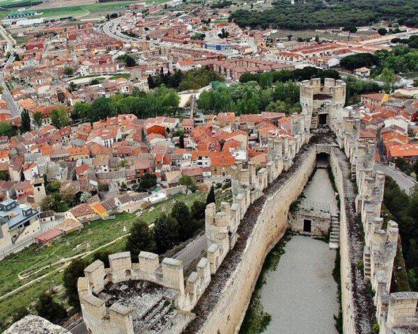 Panorámica de Peñafiel desde el castillo