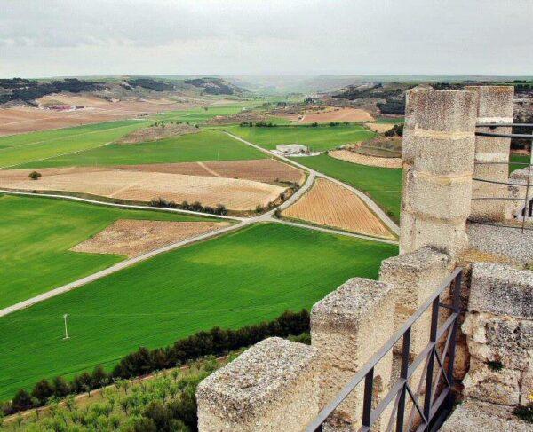 Castillo de Peñafiel en provincia de Valladolid