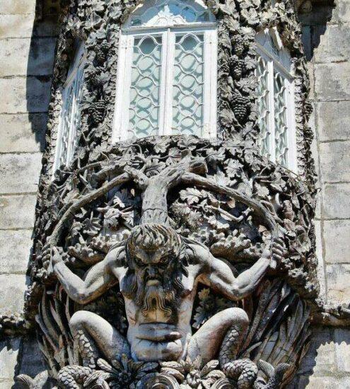 Ventana del Tritón en el palacio da Pena de Sintra