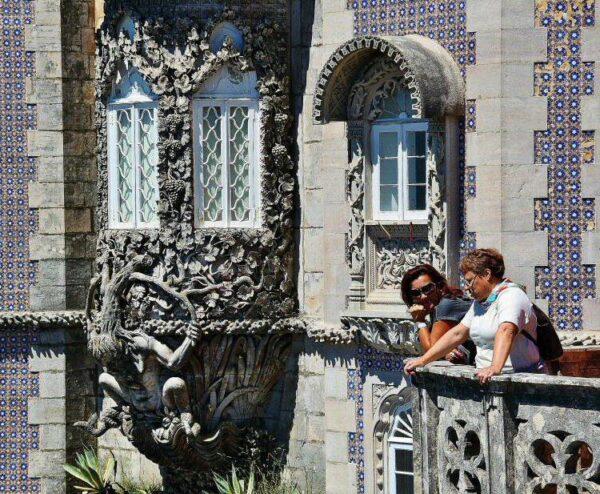 Terraza de la Reina en el palacio da Pena de Sintra
