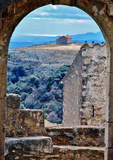 Ermita de San Cristobal desde Culla en Castellón