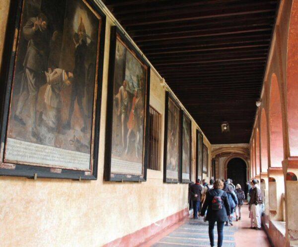 Claustro del monasterio de Guadalupe en Extremadura