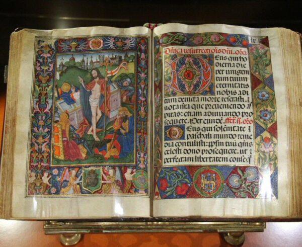 Museo de libros de coro en el monasterio de Guadalupe