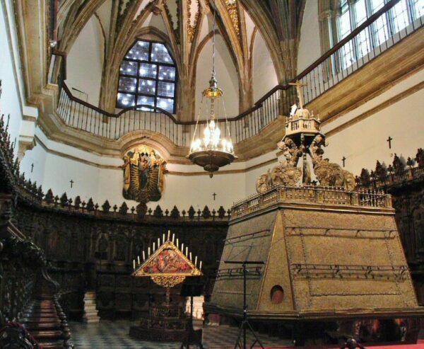 Coro de la iglesia del monasterio de Guadalupe en Cáceres