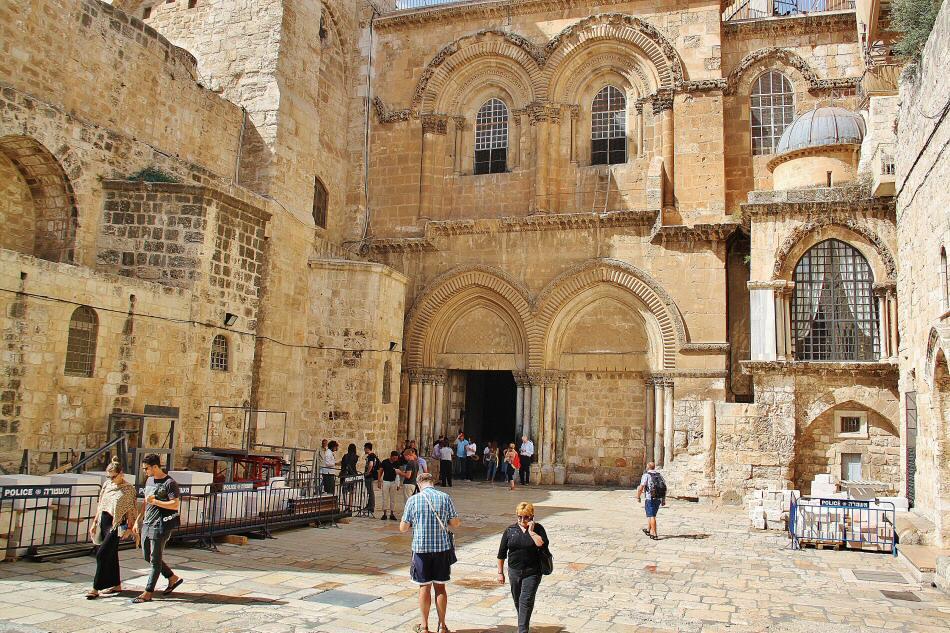 Santuario del San Sepulcro en Jerusalén en Israel