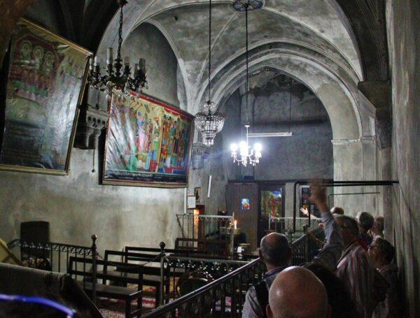 Capilla copta en la iglesia del Santo Sepulcro en Jerusalén