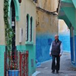 Rincón de la kasba de Tánger al norte de Marruecos