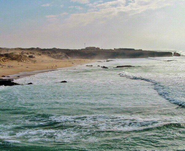 Playa de Guincho en Cascais cerca de Lisboa