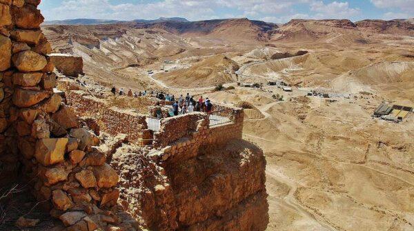 Antigua fortaleza de Masada en Israel