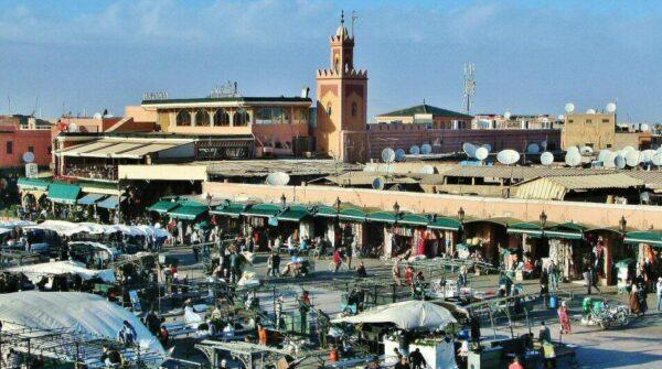 Plaza Jemaa El Fna en Marrakech en Marruecos