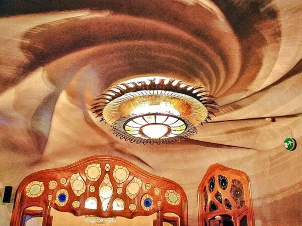 Rincón interior de la Casa Batlló de Gaudí en Barcelona