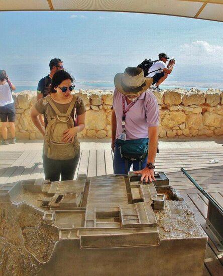 Restos arqueológicos de Masada en Israel