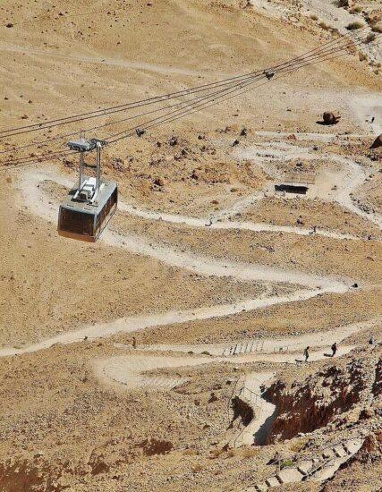 Camino de la Serpiente para subir andando a Masada
