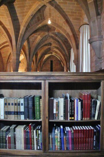 Biblioteca del monasterio de Poblet en Tarragona