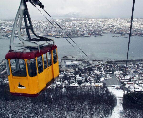 Funicular de Tromso al norte de Noruega
