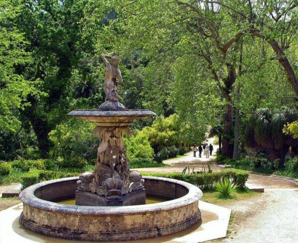 Jardines del palacio de Monserrate en Sintra cerca de Lisboa
