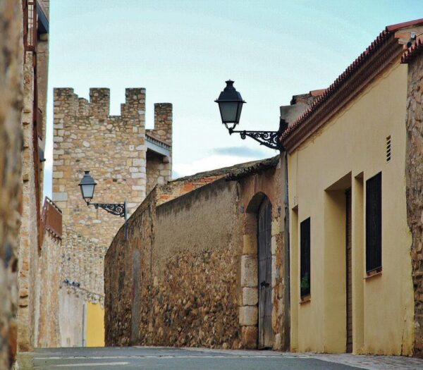 Rincón del centro histórico de Montblanc en Tarragona