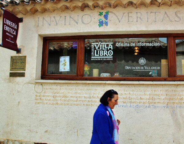 Librería enoteca en Urueña en la provincia de Valladolid