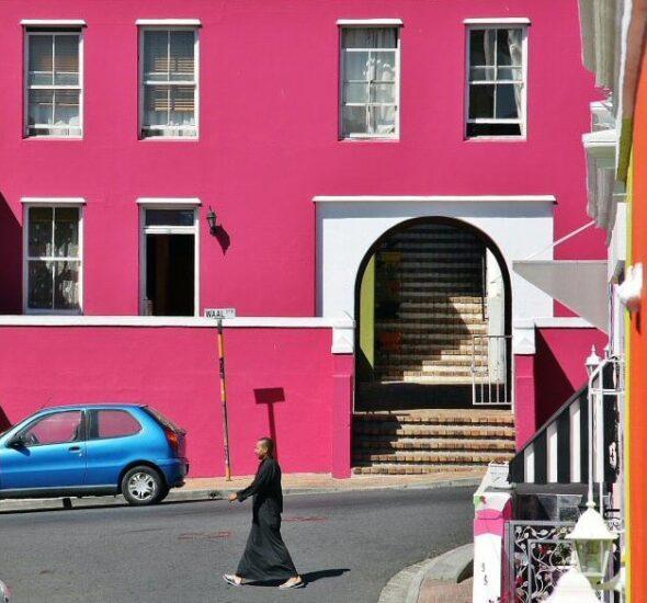 Barrio malayo de Bo-Kaap en Ciudad del Cabo