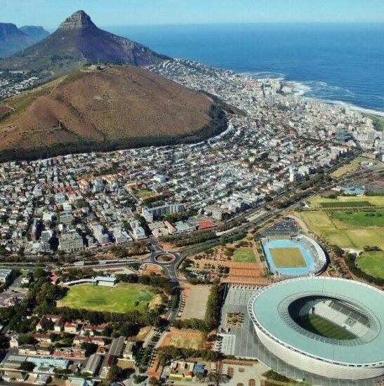 Vistas de Ciudad el Cabo en el tour en helicóptero