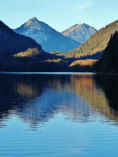 Lago Alpsee al sur de Baviera en Alemania
