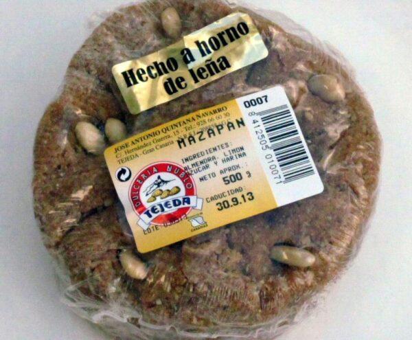 Mazapán de Gran Canaria elaborado en Dulcería Nublo de Tejeda