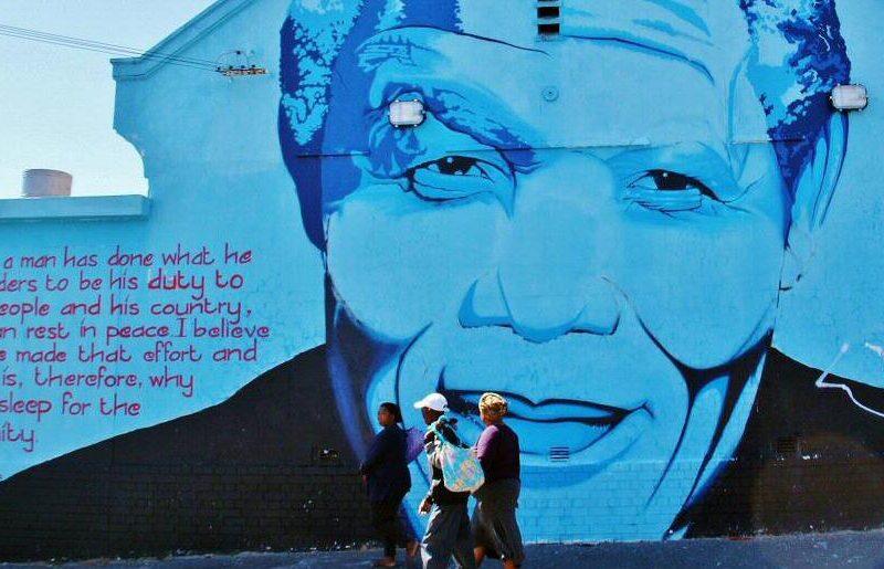 Grafiti homenaje a Mandela en Ciudad del Cabo