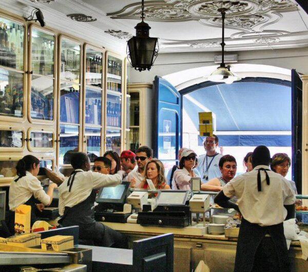 Pastelería de los pastelitos de Belem en Lisboa