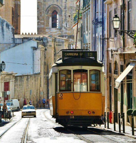 Tranvía 28 en Lisboa