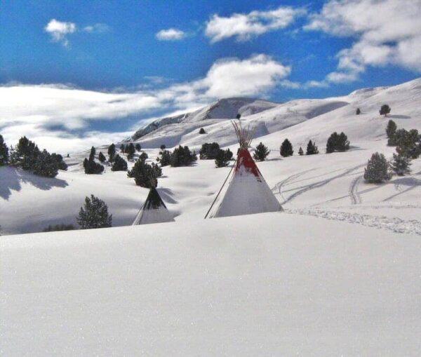 Zona de El Bosque en la estación de esquí de Formigal en Aragón