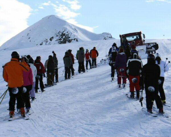 Retrack en Portalet en la estación de esquí de Formigal en Aragón