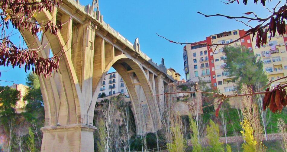 Puente en Alcoy en la provincia de Alicante