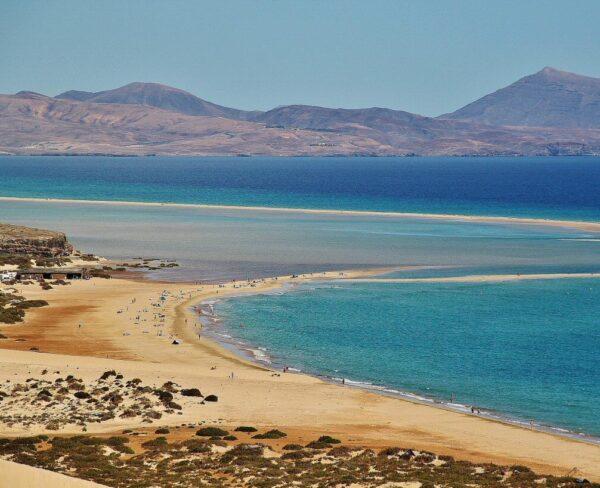 Playas de Costa Calma en Jandía al sur de Fuerteventura