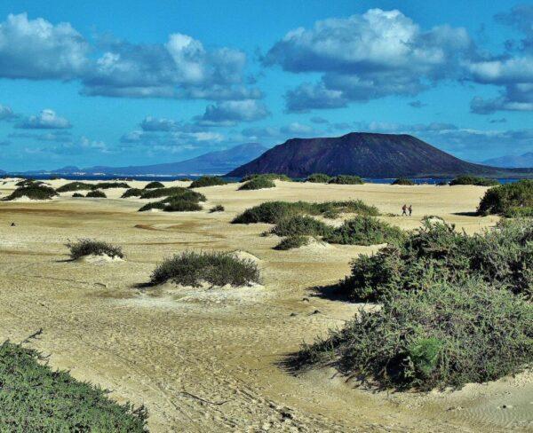 Dunas de Corralejo en Fuerteventura en las islas Canarias