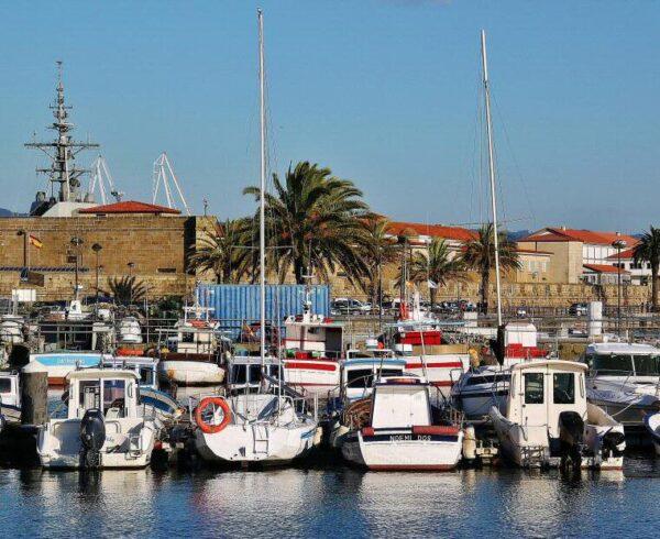 Puerto de Curuxeiras en Ferrol Viejo en Galicia