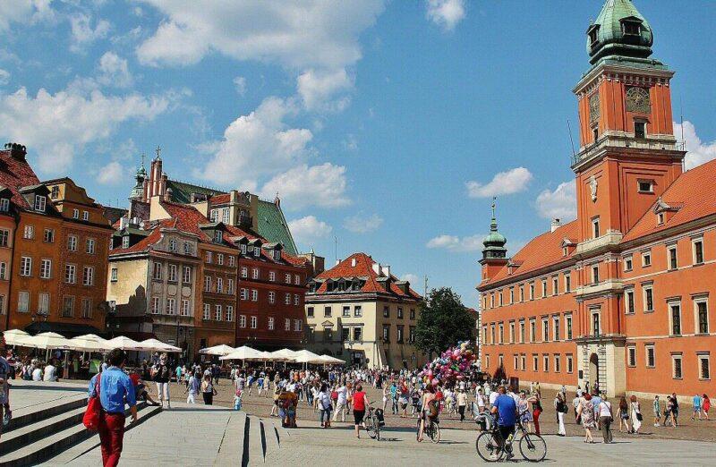 Palacio Real en el centro histórico de Varsovia