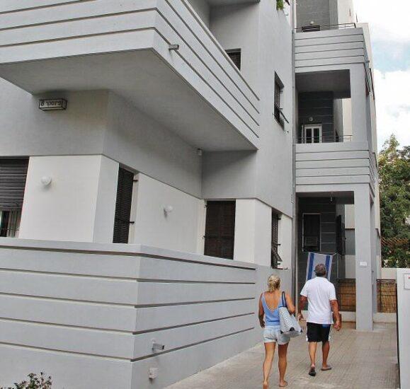 Edificio en la Ciudad Blanca de Tel Aviv en Israel