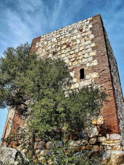 Castillo del parque nacional de Monfragüe en Extremadura